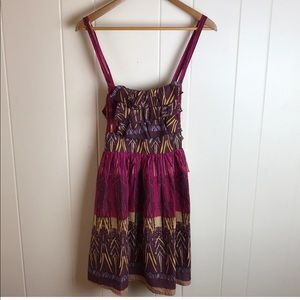 American Rag Maroon Sleeveless Hippie Boho Dress